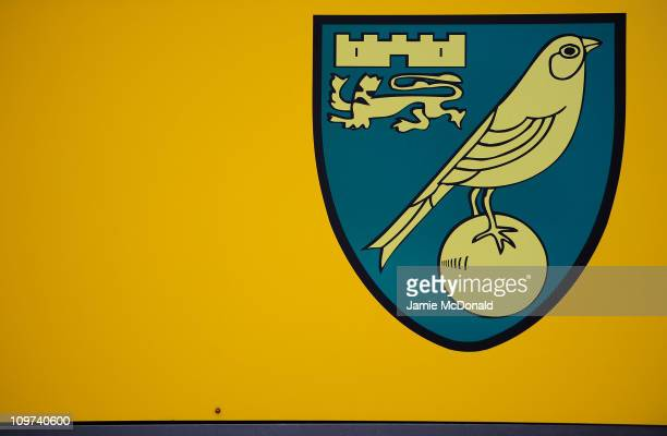 Norwich City sign is seen outside Carrow Road home of Norwich City Football Club on March 3nd 2011 in Norwich England