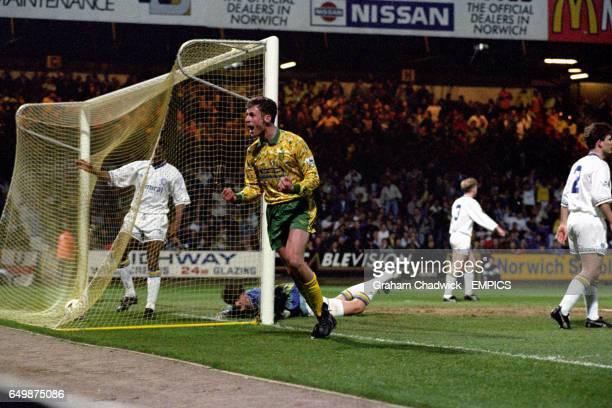 Norwich City's Chris Sutton celebrates scoring the second goal