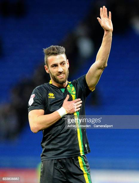 Norwich City's Ivo Pinto during the Sky Bet Championship match between Cardiff City and Norwich City at Cardiff City Stadium on February 4 2017 in...