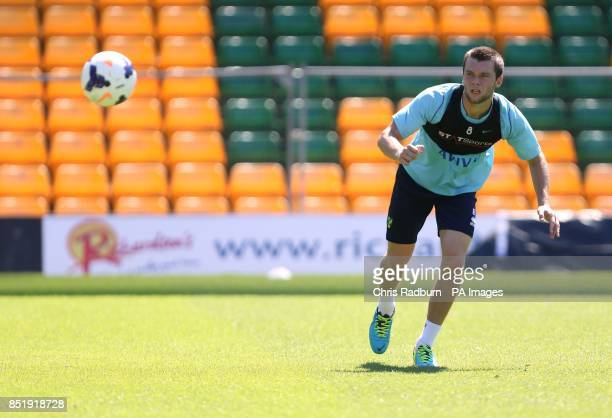 Norwich City's Jonny Howson during the open training session at Carrow Road Norwich