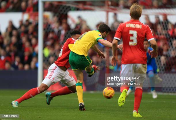 Norwich City's Jonny Howson scores their first goal