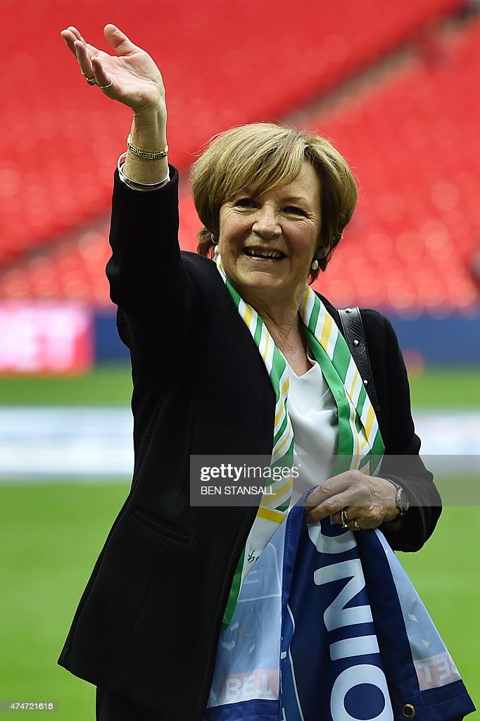 Delia Smith, Majority Shareholder at Norwich City. Best known for her cooking, Smith is a majority shareholder of the Canaries along with her husband.