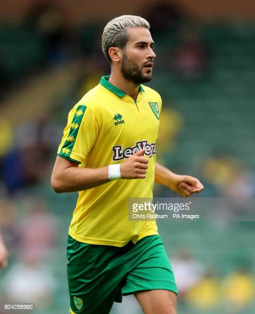 Norwich City's Mario Vrancic during the preseason match at Carrow Road Norwich