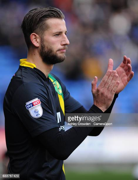 Norwich City's Mitchell Dijks in action on his debut for the club during the Sky Bet Championship match between Cardiff City and Norwich City at...
