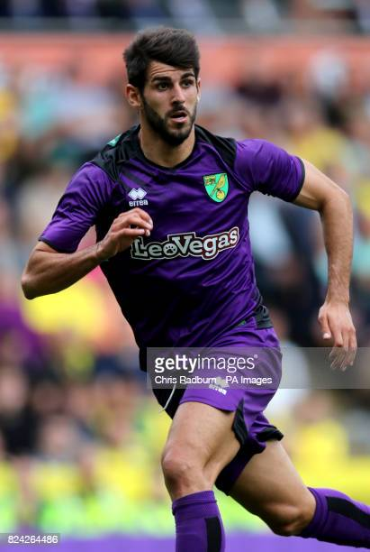 Norwich City's Nelson Oliveira during the preseason match at Carrow Road Norwich