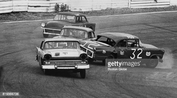 Norwood Arena stock car racing in Norwood Mass June 20 1966