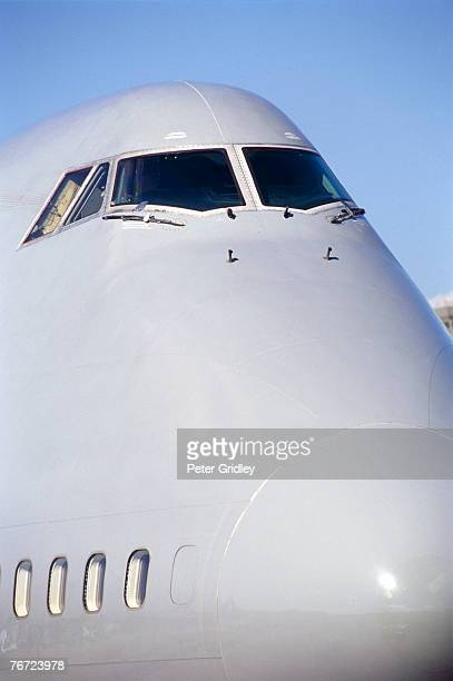 Nose of a jumbo jet