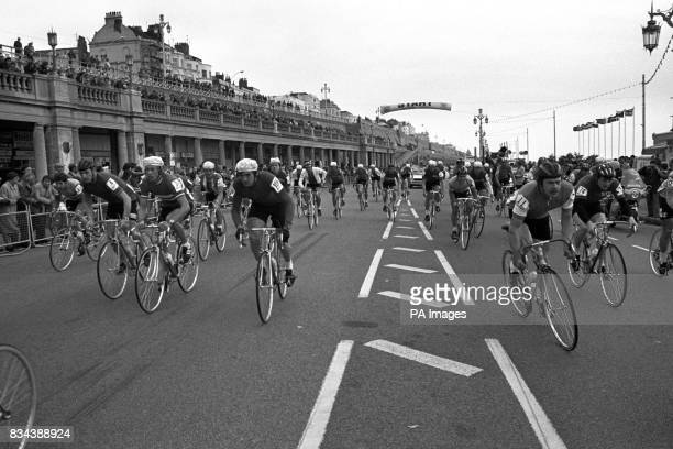 Not a pinta in sight on the front at Brighton this morning when more than 60 international cyclists left for Basingstoke on the first half stage of...