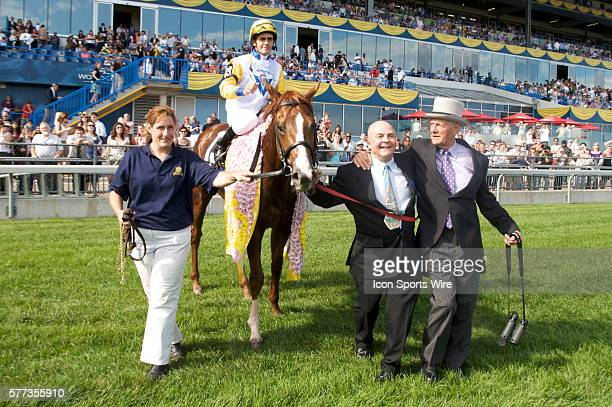 Not Bourbon and jockey Juno Jones head off to the winners circle after winning the 149th Queens Plate Sunday at Woodbine Racetrack in Toronto Ontario...