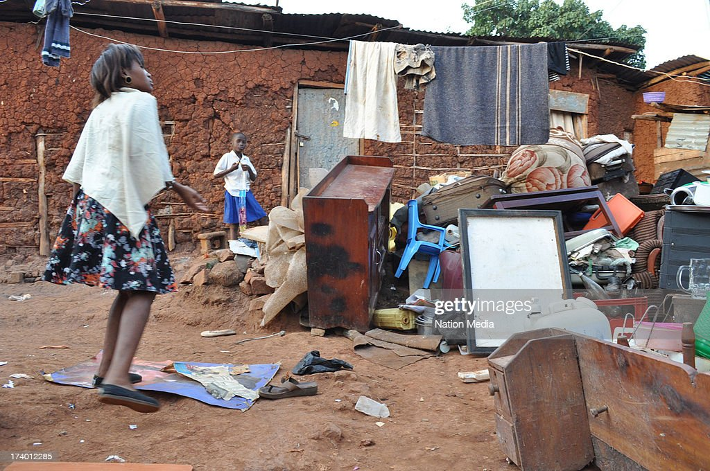 KAMPALA, UGANDA (Not for sale to The Star (Kenya), The Kabalagala police barracks in Kampala, Uganda. Police posts and station in Uganda are in a very deplorable state.