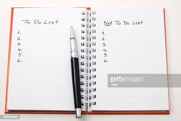 Nicht to-do-Liste