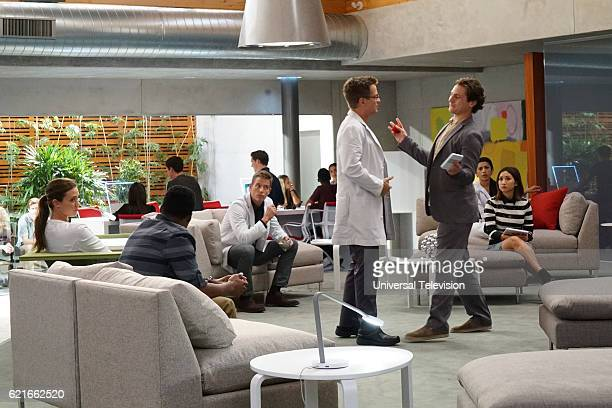 GENIUS 'Not Your Grandmother's Robotic Surgery' Episode 102 Pictured Odette Annable as Dr Zoe Brockett Aaron Jennings as Dr Malik Verlaine Ward...