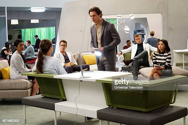 GENIUS 'Not Your Grandmother's Robotic Surgery' Episode 102 Pictured Reshma Shetty as Dr Talaikha Channarayapatra Odette Annable as Dr Zoe Brockett...