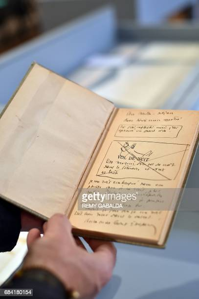 A note book belonging to artist Antoine de SaintExupéry is shown at the Museum of Old Toulouse on May 17 prior to the set of 12 drawings and 7...