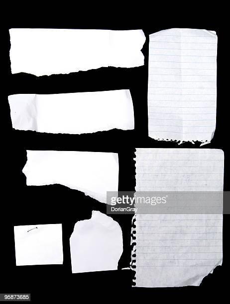 note book scraps
