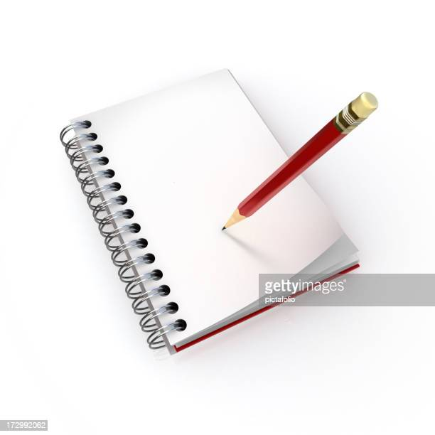note book with pencil