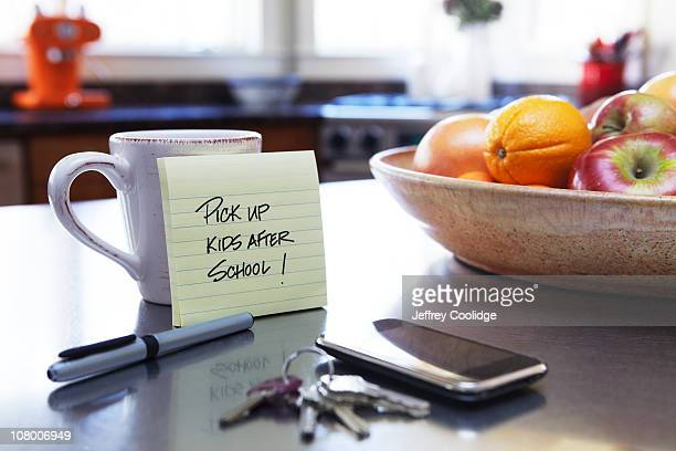 Note on Kitchen Counter