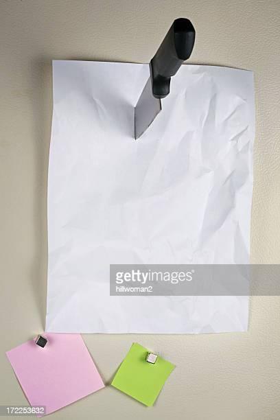 Note on Refridgerator Door