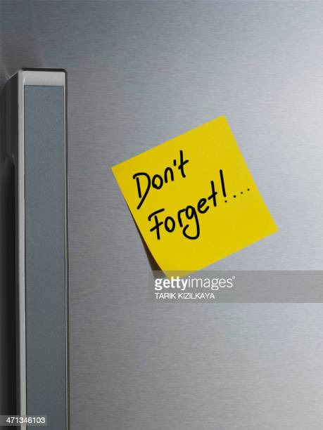 Note on Refrigerator Door. Don't Forget