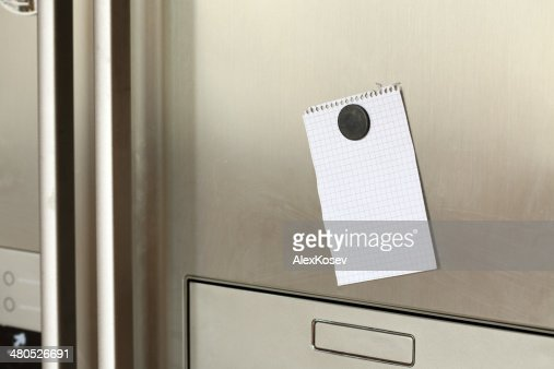 Note on refrigerator : Stockfoto