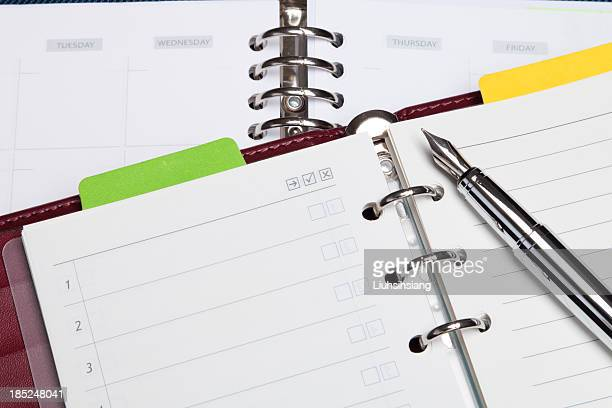 Notebook mit Füllfederhalter