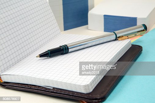 notebook and fountain pen : Stock Photo