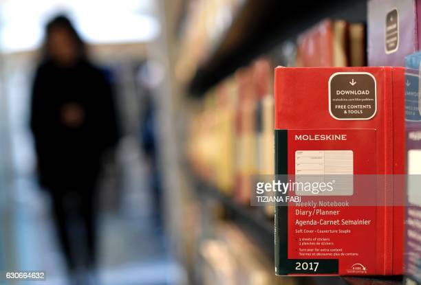 A notebook of Italian notebook manufacturer Moleskine is pictured in a store in central Rome on December 20 2016 The Italian group's sales have more...