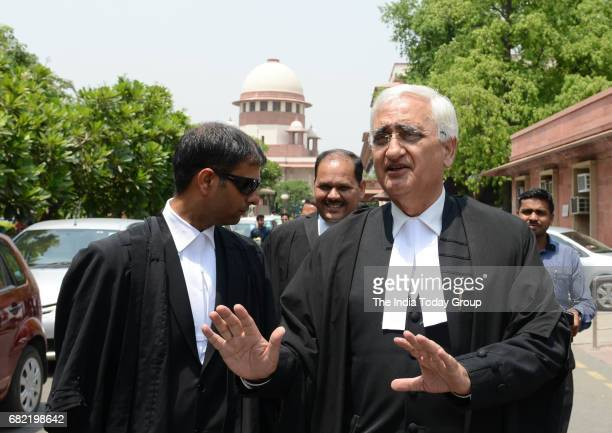 Noted lawyer Salman Khurshid after the historic hearing on the constitutional validity of triple talaq at the Supreme Court in New Delhi