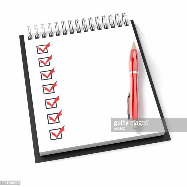 Lista de verificación de bloc de notas