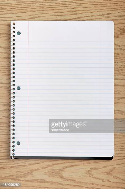 notepad on a desk