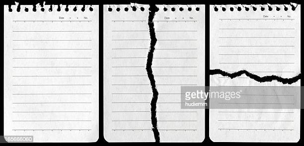 Notepad page background textured isolated
