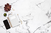Note Pad, Pen, mobile phone, blogging, Flat lay, Office supplies, Directly above,
