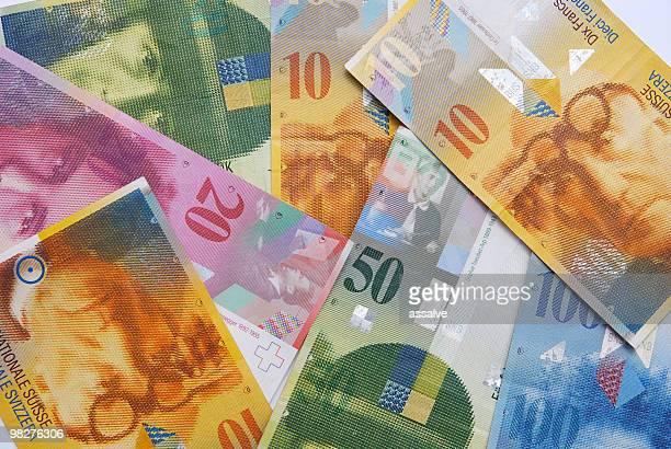 Notizen der Schweizer Franken Währung