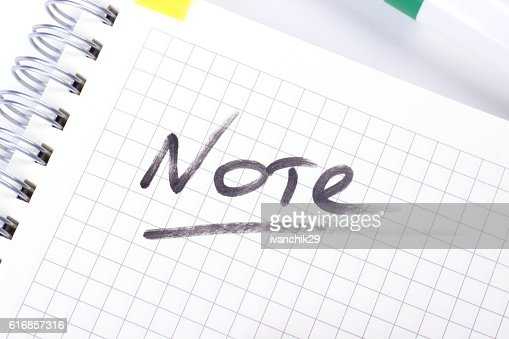 Notes on paper : Stock Photo