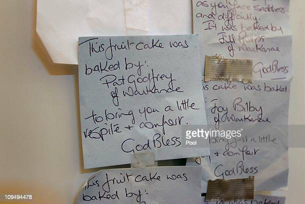 Notes to the New Zealand USAR team are attached to the fridge in the mess room at the Urban Search and Rescue Headquarters located in Latimer Square...