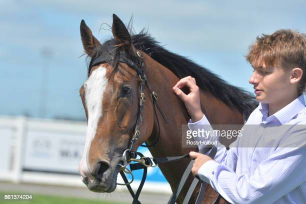 Nothin' On Me after winning the XXXX Gold FM Maiden Plate at Racingcom Park Racecourse on October 14 2017 in Pakenham Australia