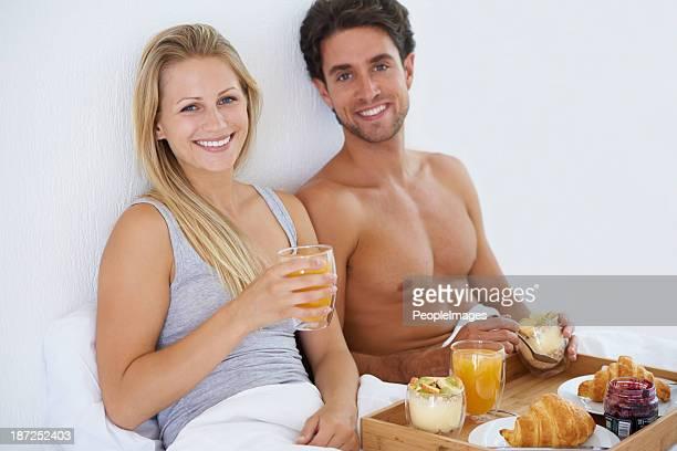 Nothings besser als ein Frühstück im Bett