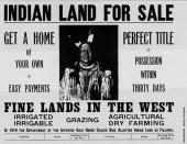 A notice advertising Indian land for sale