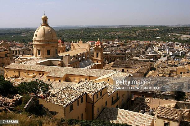 Picture taken 15 June 2007 of the cathedral of Noto on the southeast coast of Sicily The 18thcentury cathedral is to reopen 18 June 2007 after a...