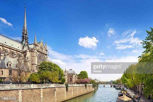 Notre-Dame e il fiume Senna a Parigi