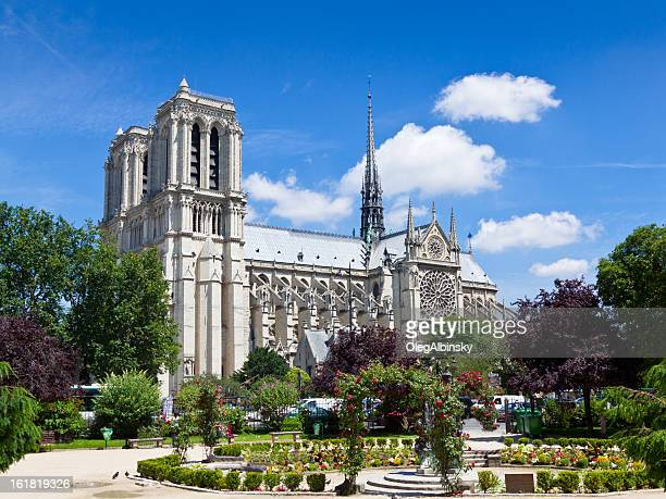 Notre Dame as seen from Square René Viviani, Paris.