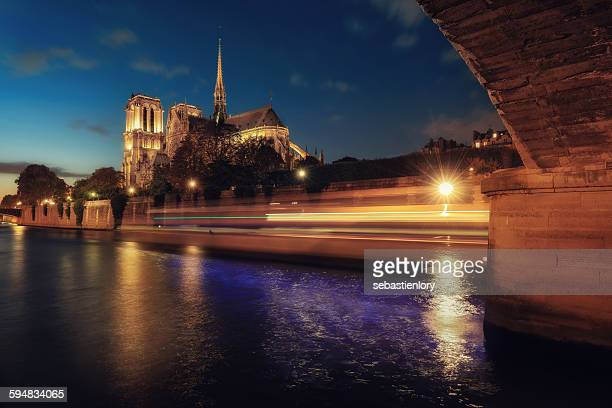 Notre Dame at night, Paris, France