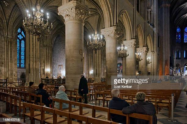 Notre Dame Cathedral interior.