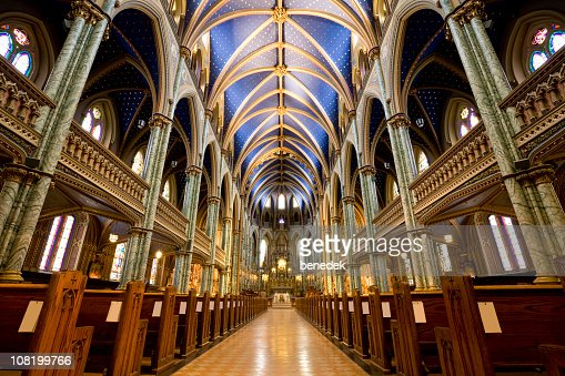 Notre Dame Cathedral Ottawa : Stock Photo