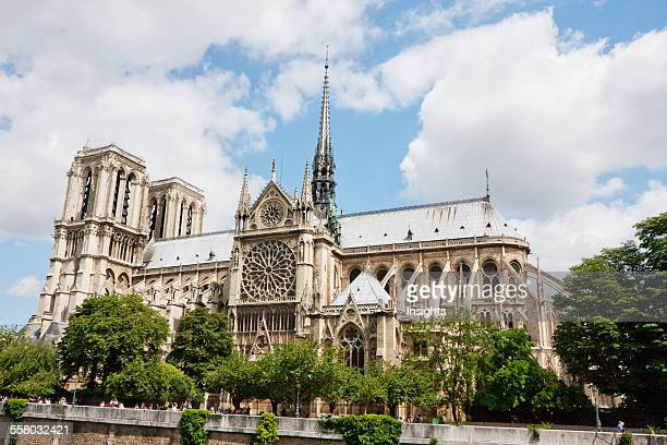 Notre Dame De Paris Cathedral As Seen From The Left Bank Of The Seine Paris France