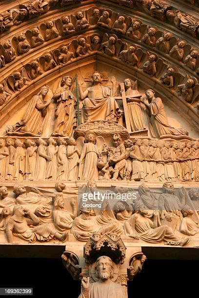 Notre Dame de Paris cathedral Last Judgment tympanum