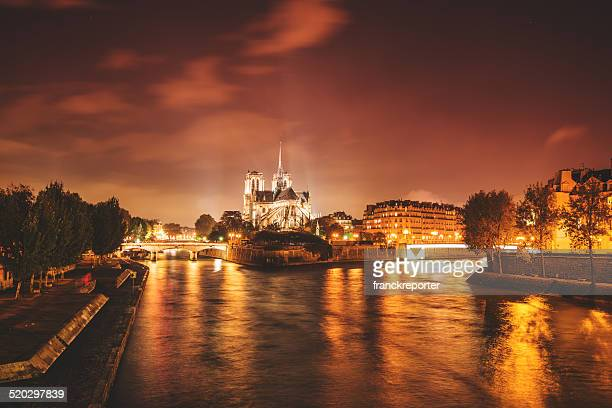 Notre Dame de paris in night