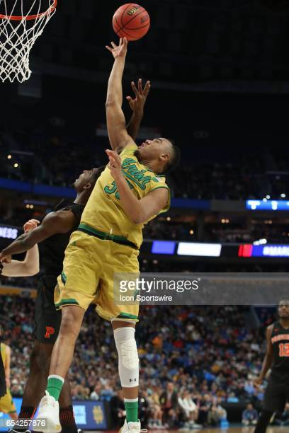 Notre Dame Fighting Irish forward Bonzie Colson makes a basket during the NCAA Division I Men's Basketball Championship first round game between...
