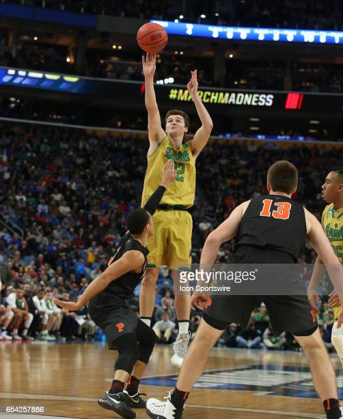 Notre Dame Fighting Irish forward Elijah Burns makes a lay up during the NCAA Division I Men's Basketball Championship first round game between...