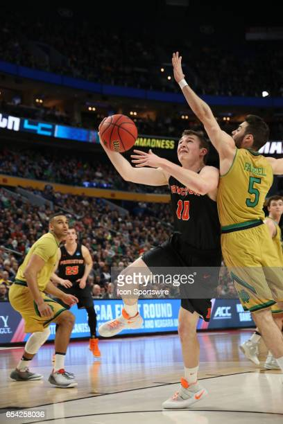 Notre Dame Fighting Irish guard Matt Farrell can't block Princeton Tigers forward Spencer Weisz shot during the NCAA Division I Men's Basketball...